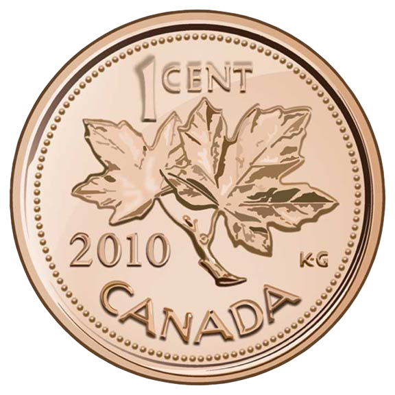 Adobe Illustrator Rendering of a Canadian Penny