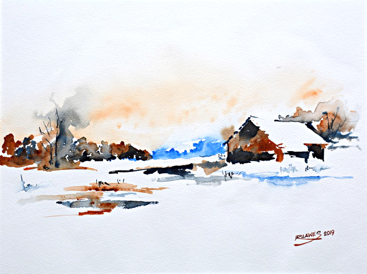 Wiknterfarm Watercolour